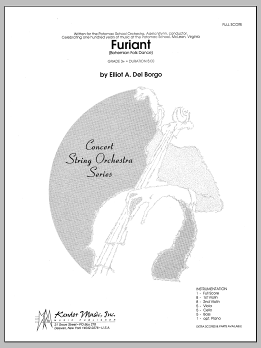 Furiant (Bohemian Folk Dance) (COMPLETE) sheet music for orchestra by Del Borgo. Score Image Preview.