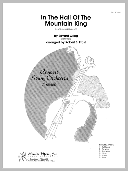 In the Hall of the Mountain King (COMPLETE) sheet music for orchestra by Edward Grieg and Frost. Score Image Preview.
