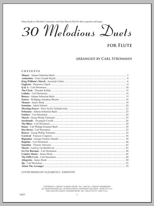 30 Melodious Duets (Woodwind Ensemble)