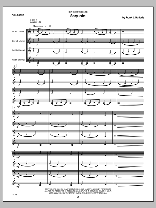 Musical Postcards (10 Clarinet Quartets From Around The World) (COMPLETE) sheet music for clarinet quartet by Halferty. Score Image Preview.