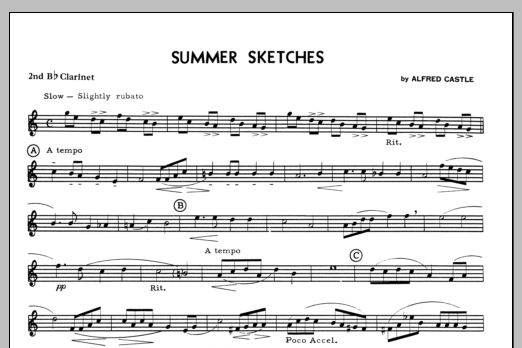 Summer Sketches - 2nd Bb Clarinet Sheet Music