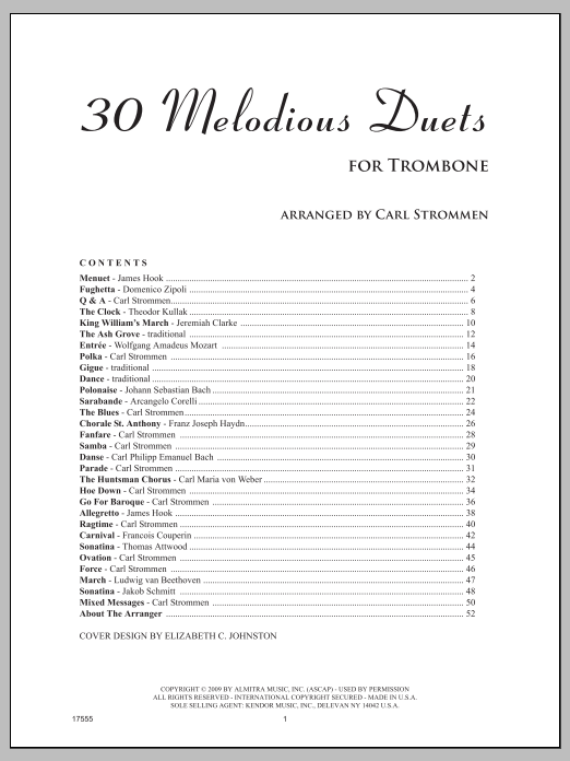 30 Melodious Duets Sheet Music