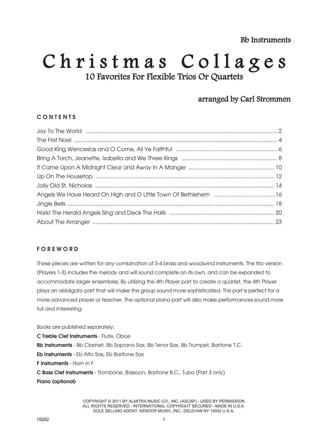 Christmas Collages - Bb Instruments Sheet Music