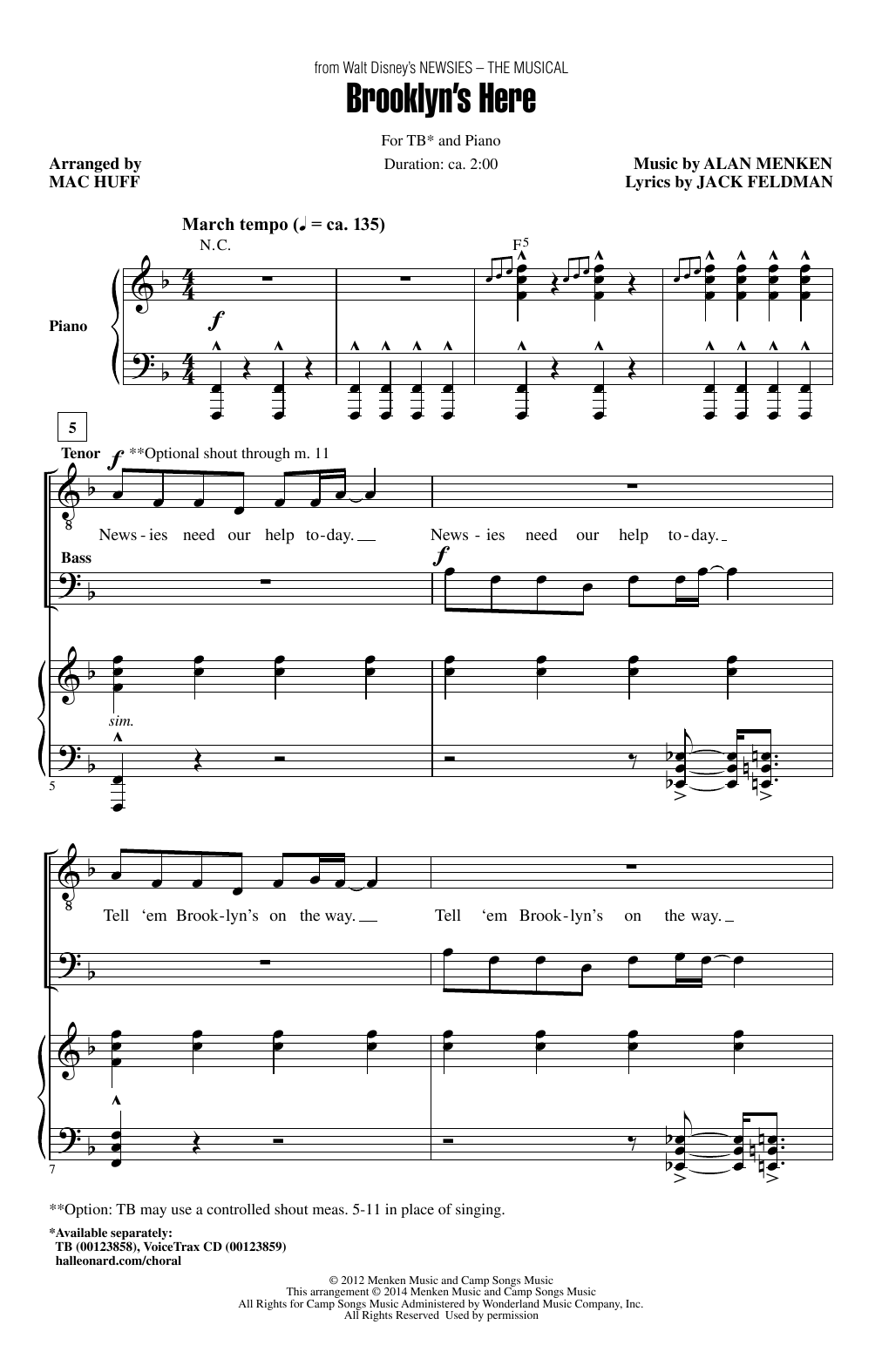 Brooklyn's Here (arr. Mac Huff) Sheet Music