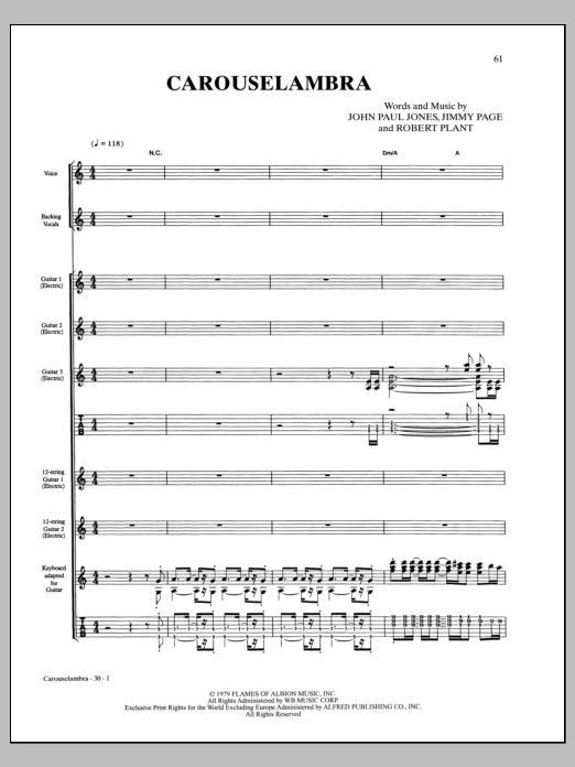 Carouselambra Sheet Music