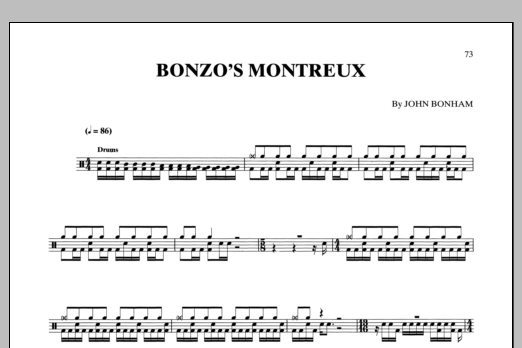 Bonzo's Montreux Sheet Music
