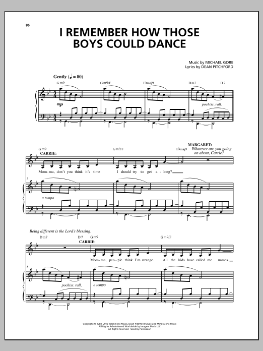 I Remember How Those Boys Could Dance Sheet Music