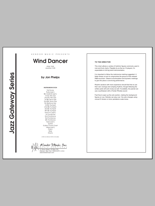 Wind Dancer (COMPLETE) sheet music for jazz band by Phelps. Score Image Preview.