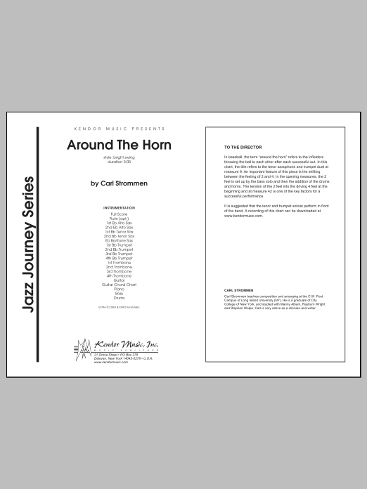 Around The Horn (COMPLETE) sheet music for jazz band by Carl Strommen. Score Image Preview.