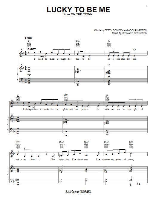 Lucky To Be Me Sheet Music