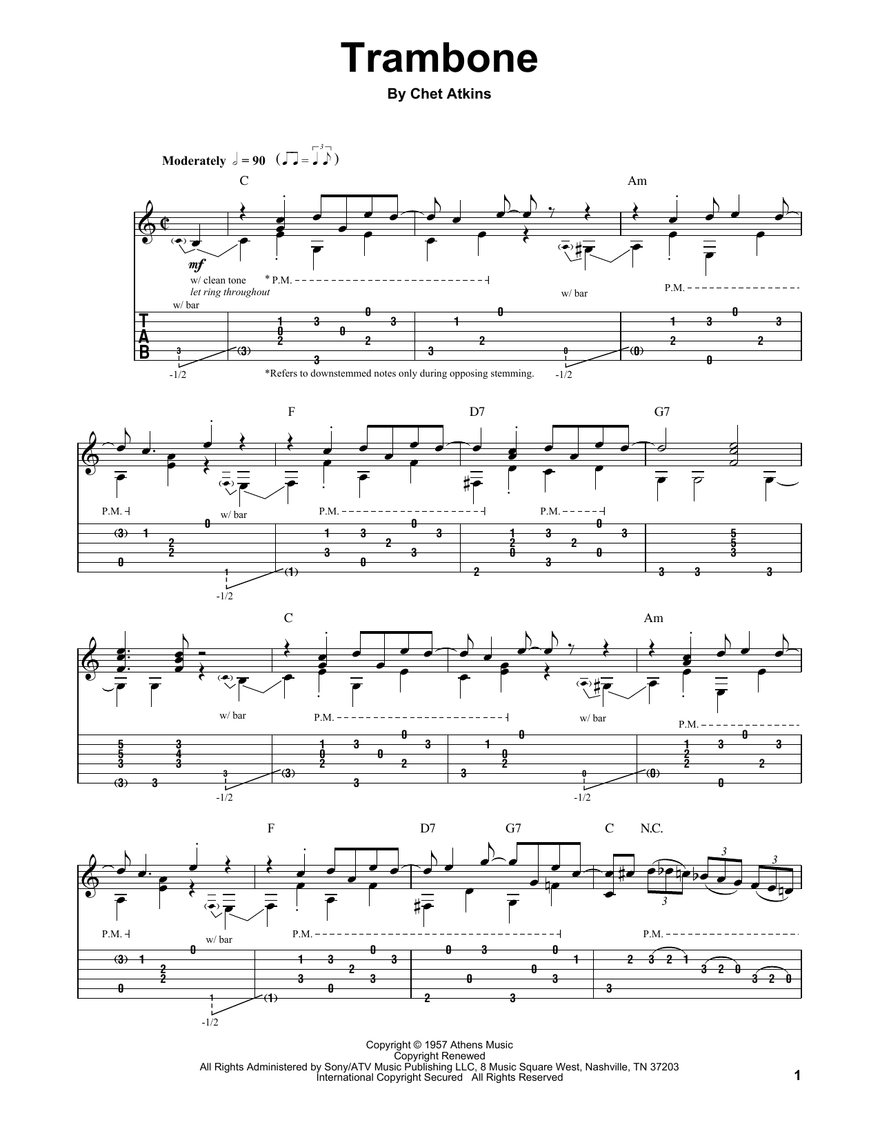 Trambone Sheet Music