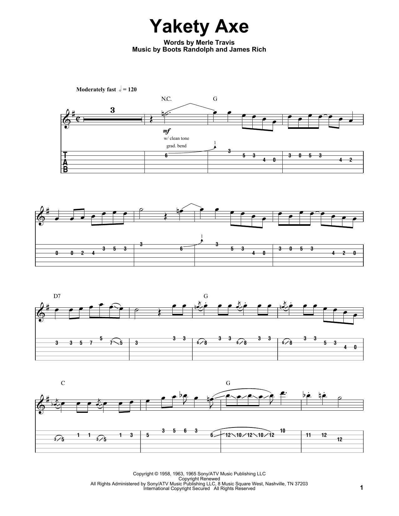 Yakety Axe (Guitar Tab (Single Guitar))