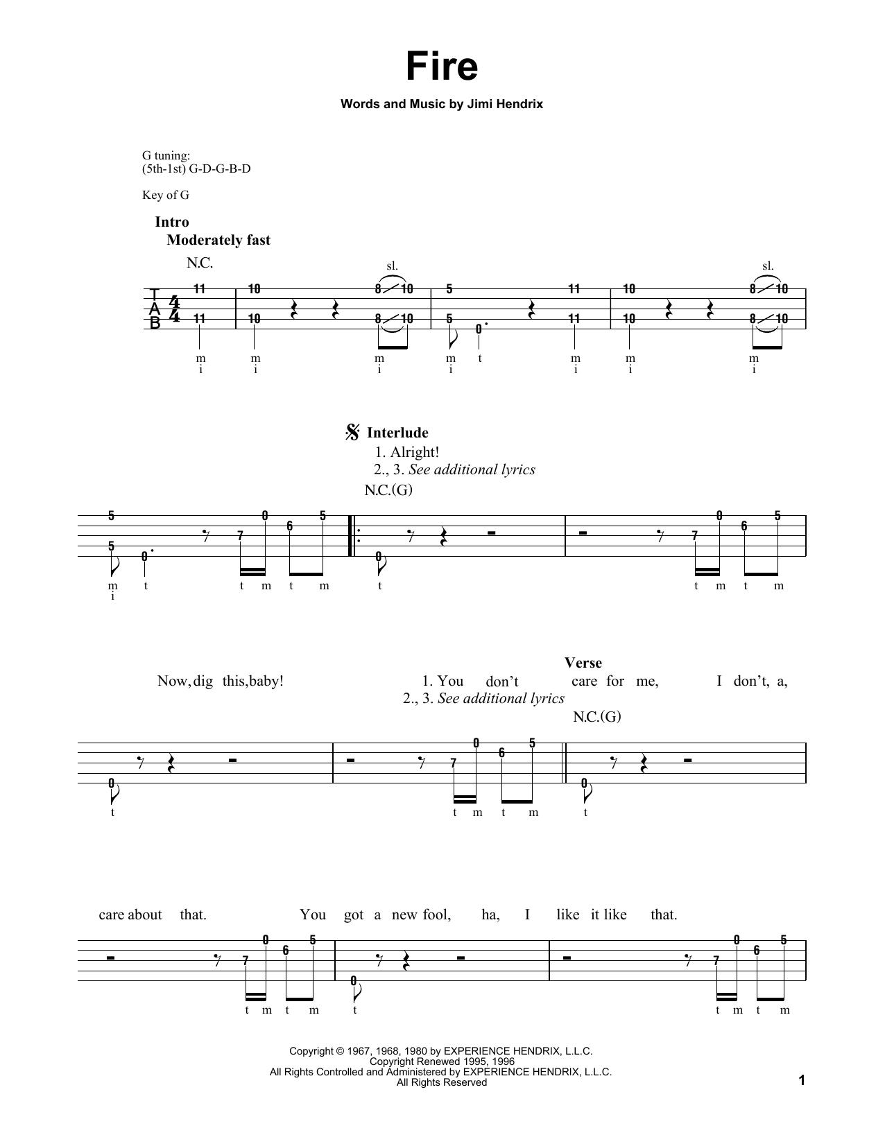 Fire (Banjo Tab)