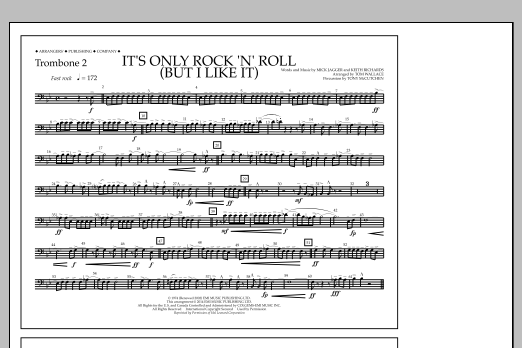It's Only Rock 'n' Roll (But I Like It) - Trombone 2 (Marching Band)
