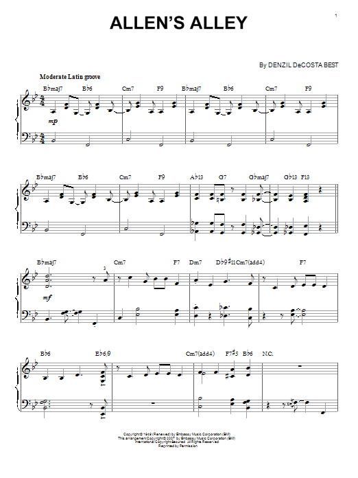 Allen's Alley Sheet Music