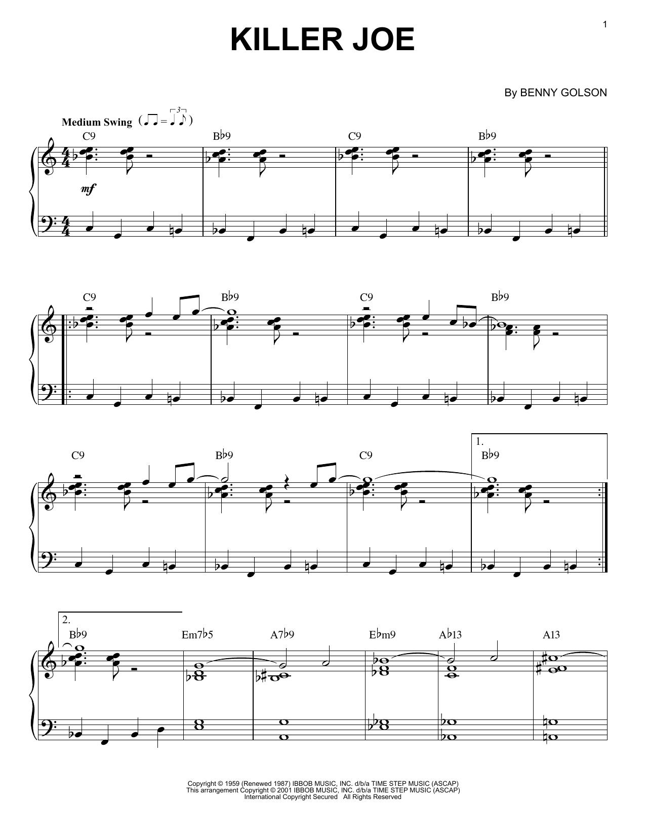 Killer Joe (Piano Solo)