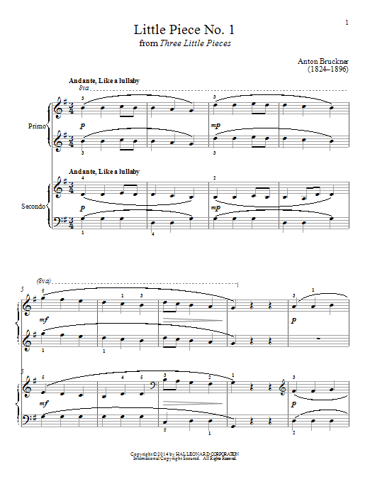 Little Piece No. 1 Sheet Music