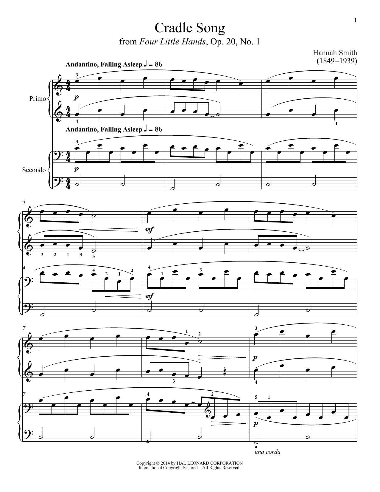 Cradle Song Sheet Music