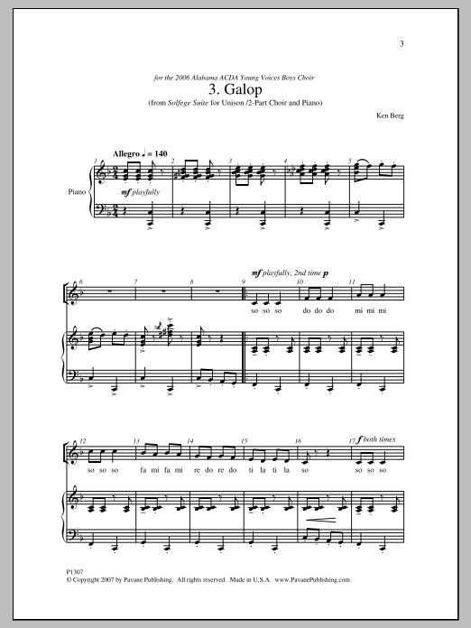 Galop Sheet Music