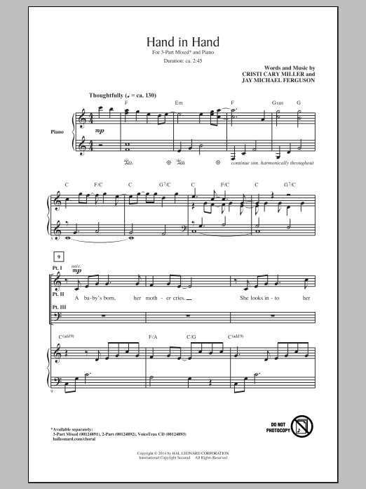 Hand In Hand Sheet Music