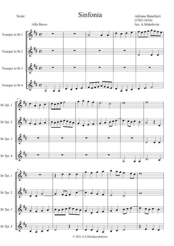 Sinfonia Sheet Music