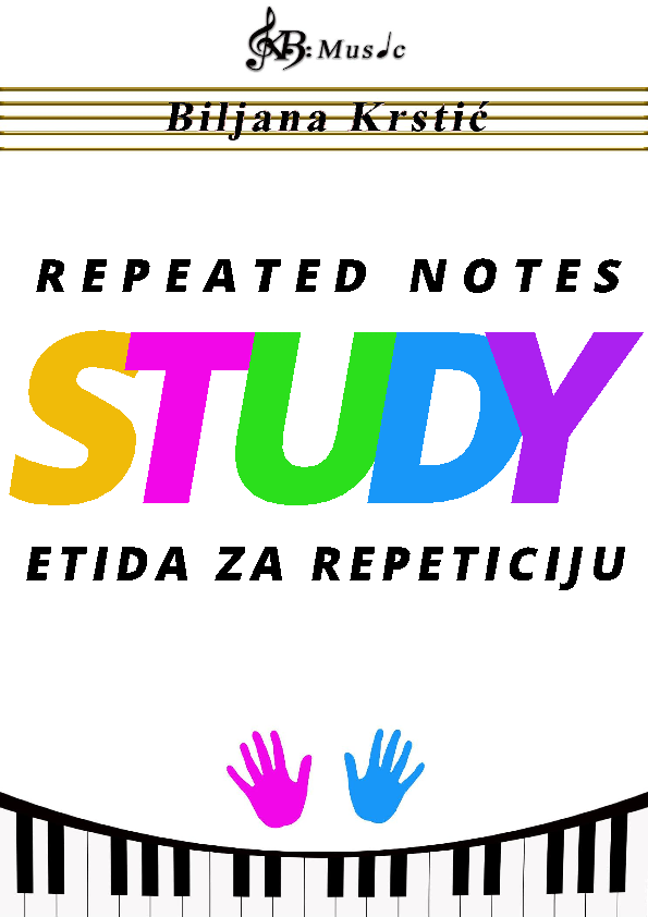 Repeated notes Study Sheet Music