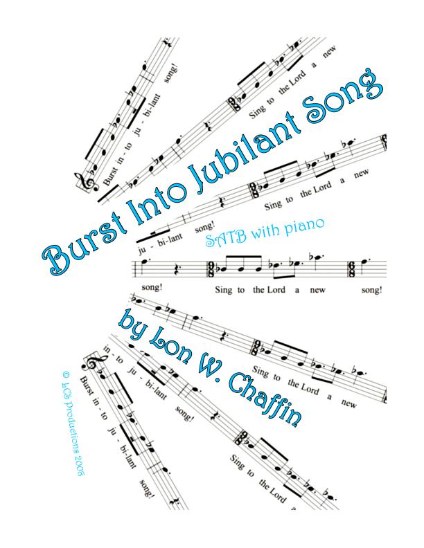 Burst Into Jubilant Song Sheet Music