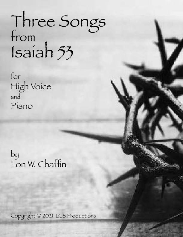 Three Songs from Isaiah 53 Sheet Music