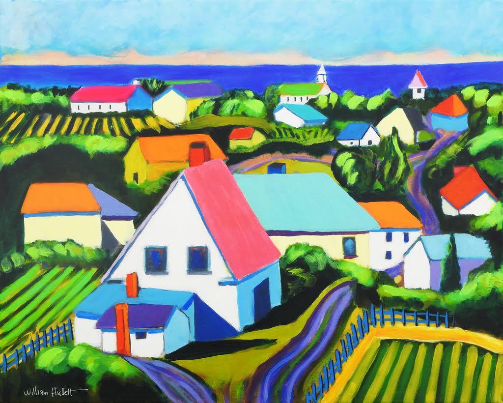 Maine Coastal Village