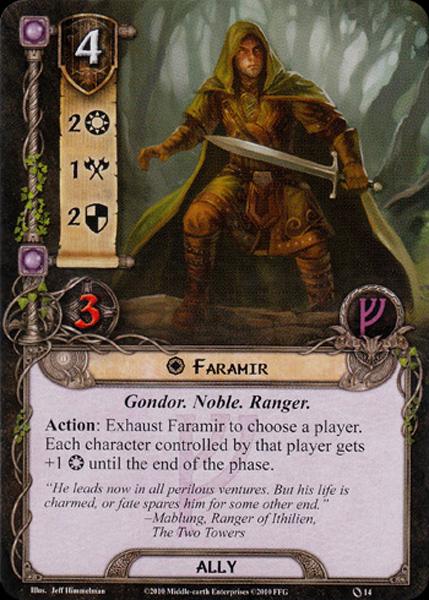 Quels alliés intéressants pour Messenger of the King? Faramir