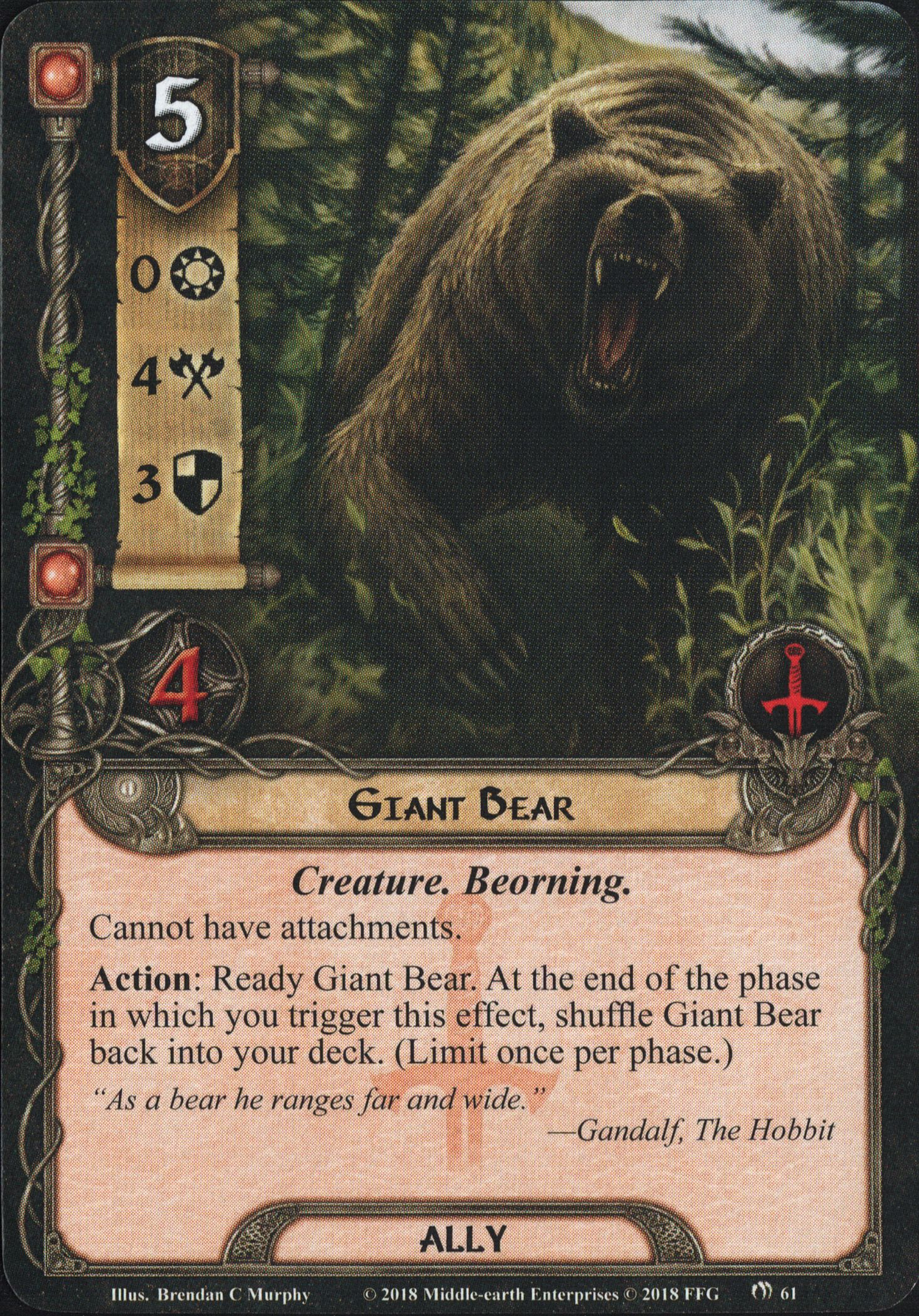 Fire in the night [Ered Mithrin pack 3] Giant-Bear