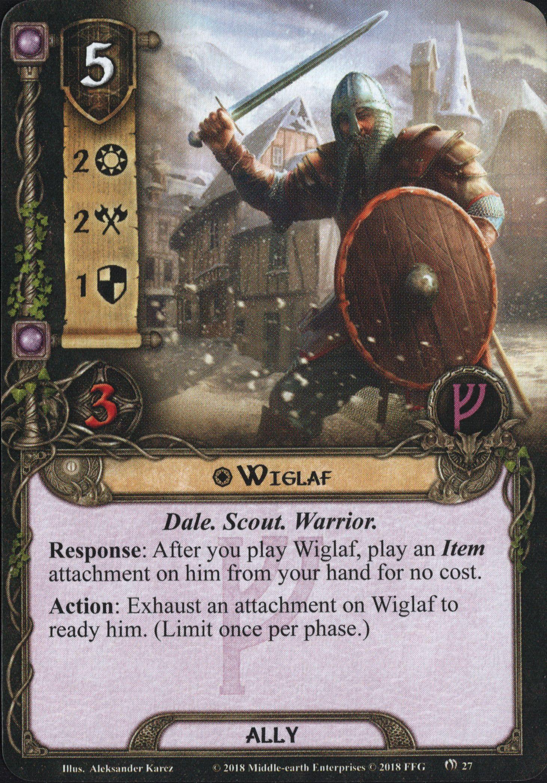 Quels alliés intéressants pour Messenger of the King? Wiglaf
