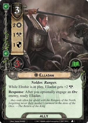 Quels alliés intéressants pour Messenger of the King? Elladan