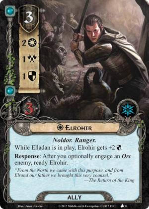 Quels alliés intéressants pour Messenger of the King? Elrohir