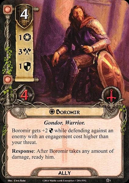 Quels alliés intéressants pour Messenger of the King? Boromir