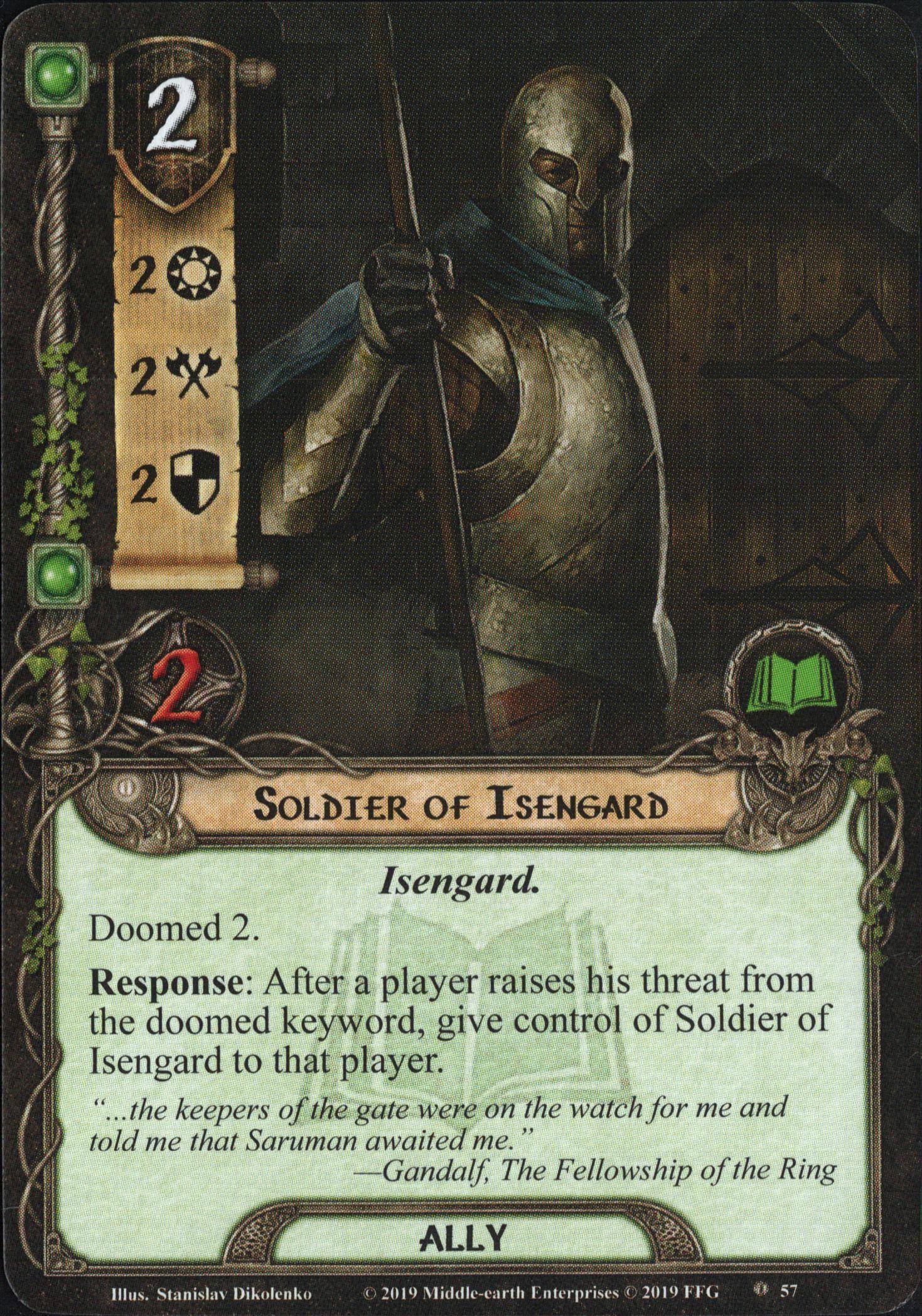 Galerie visuelle des cartes joueurs à venir Soldier-of-Isengard