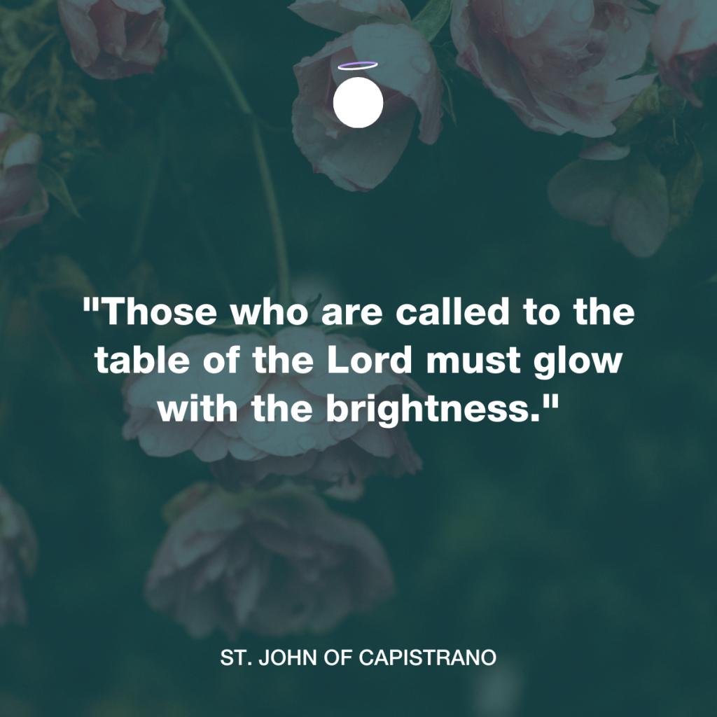 Hallow Daily Quote - Saint John of Capistrano