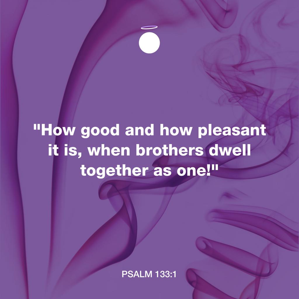 Hallow Bible Verse - Psalm 133:1