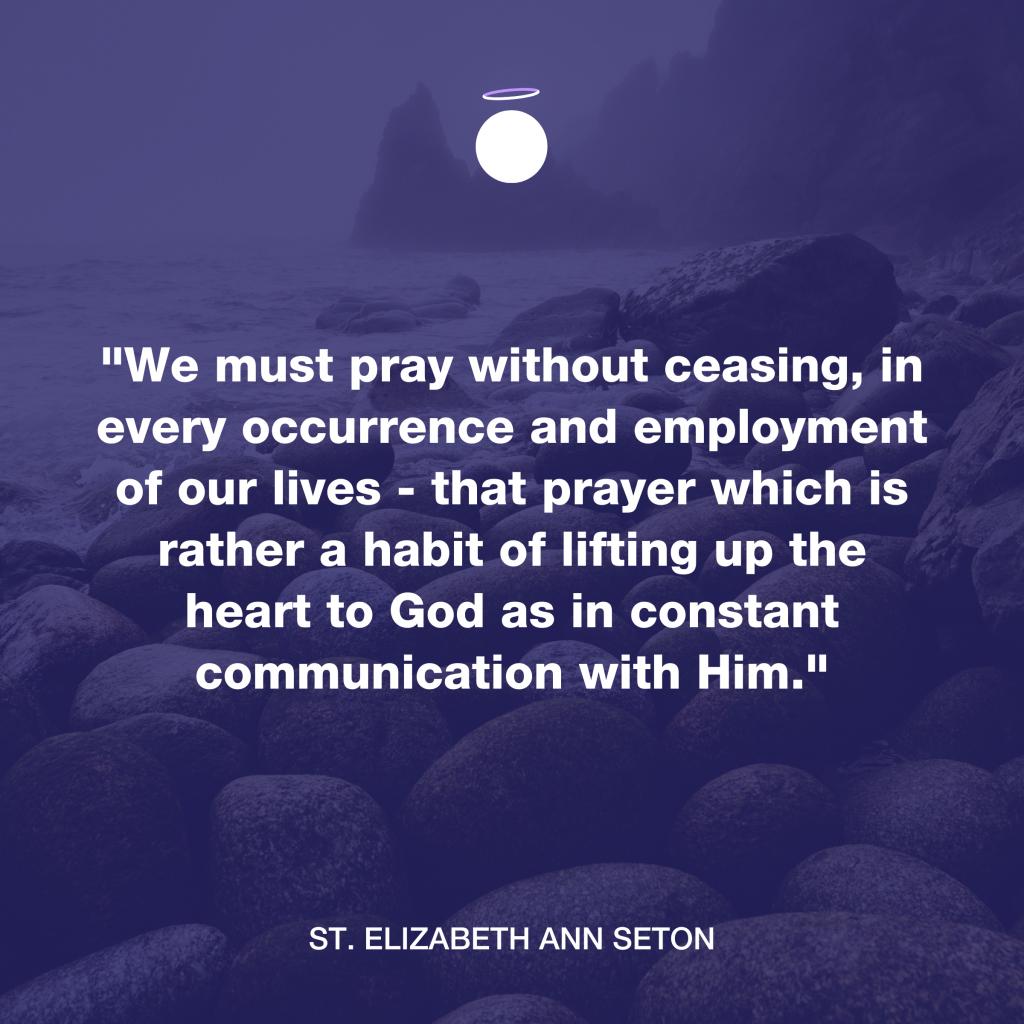 Hallow Daily Quote - Prayer habit