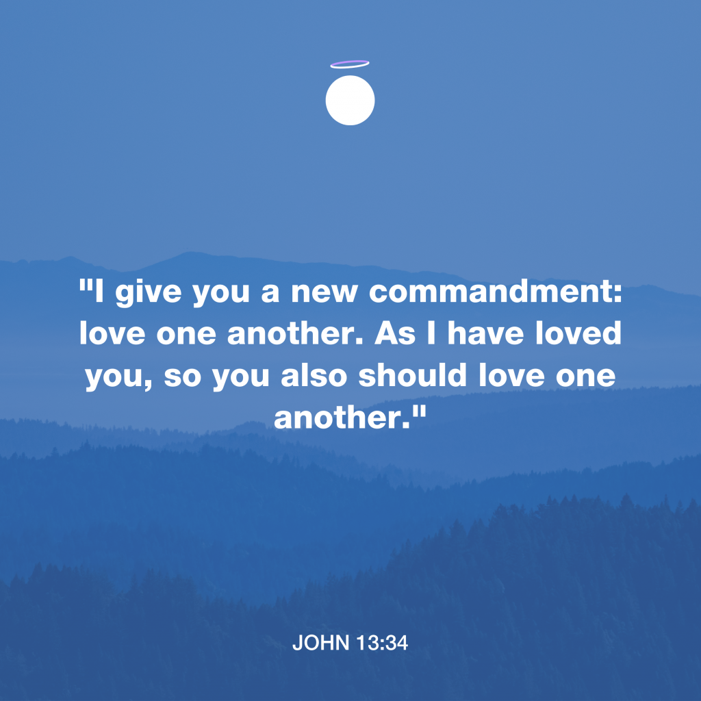 Hallow Bible Verse - Love one another