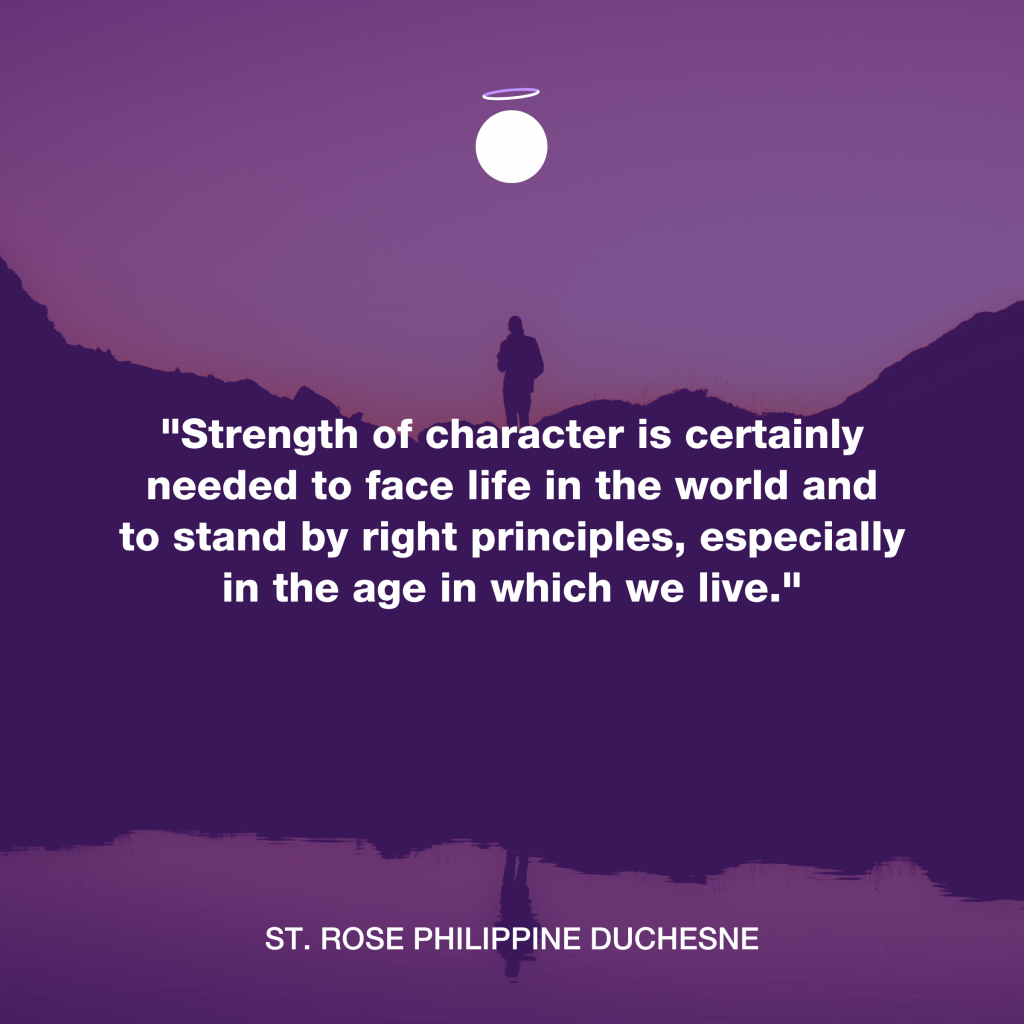 Hallow Daily Quote - Strength of character