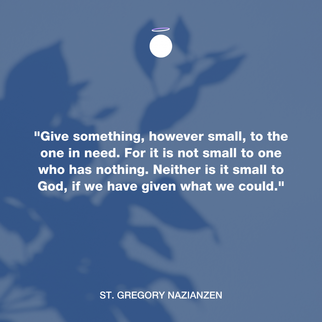 Hallow Daily Quote - Charity - Saint Gregory