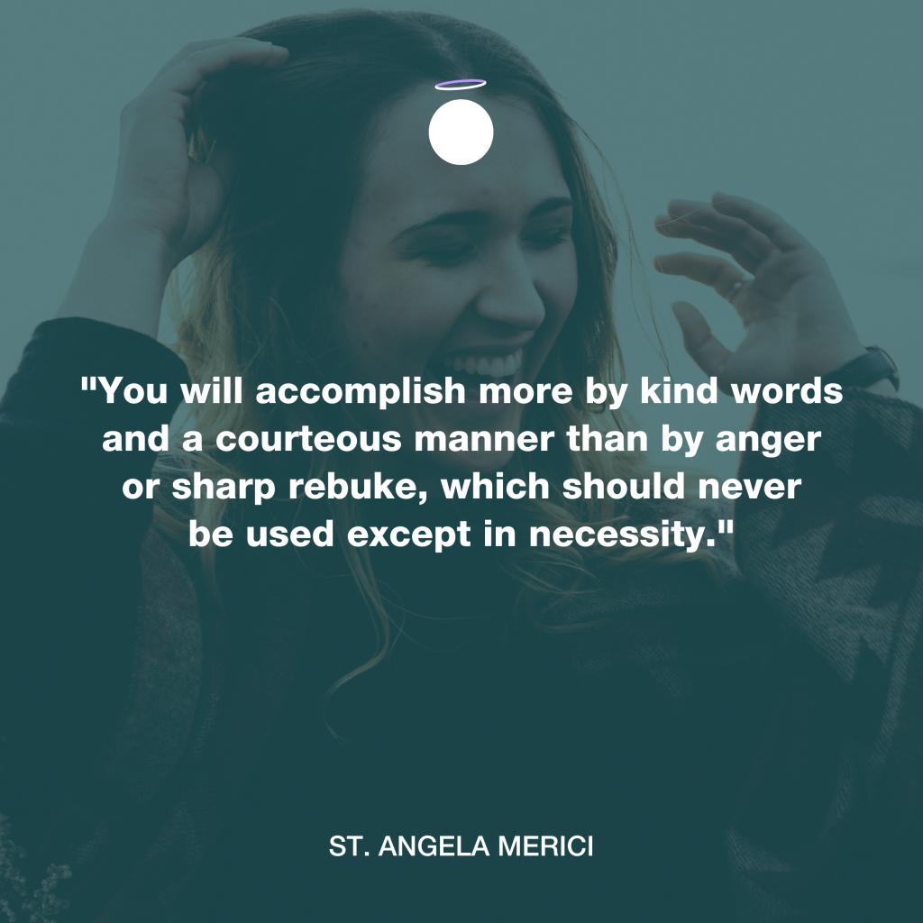 Hallow Daily Quote - Saint Angela Merici