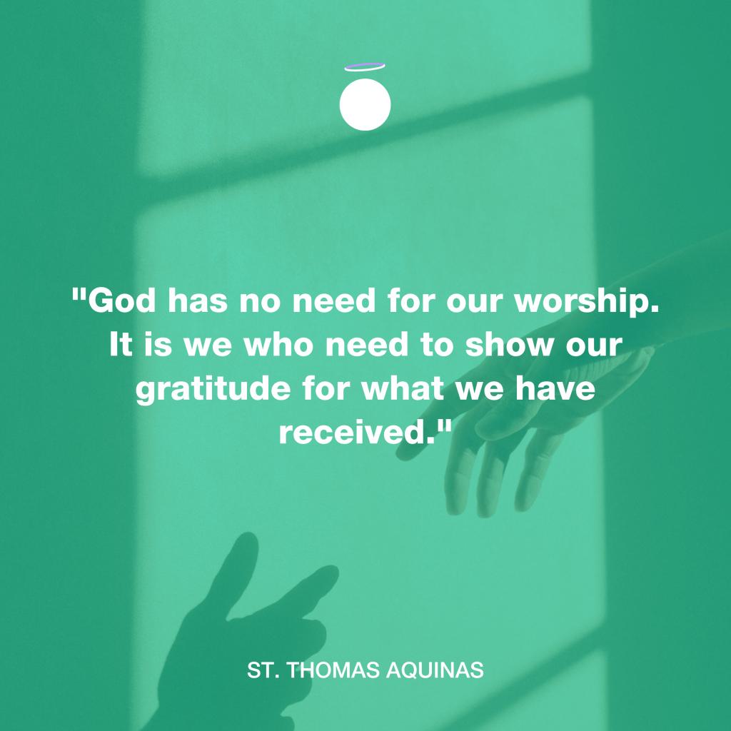 Hallow Daily Quote - Gratitude - Thomas Aquinas