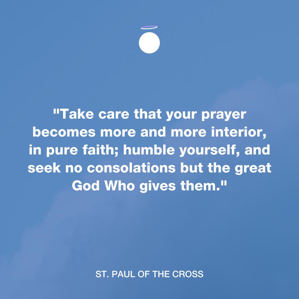 Hallow Daily Quote - Interior prayer