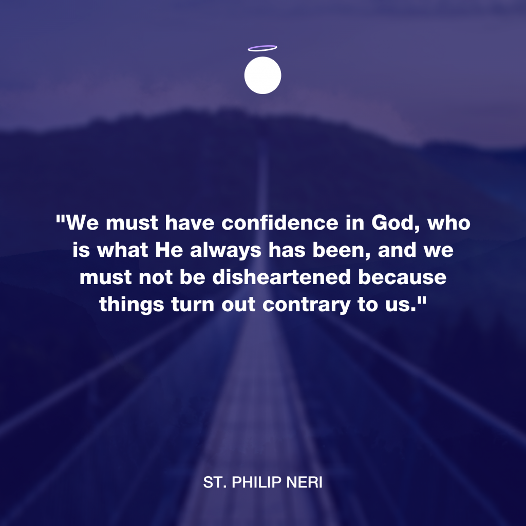 Hallow Daily Quote - confidence in God