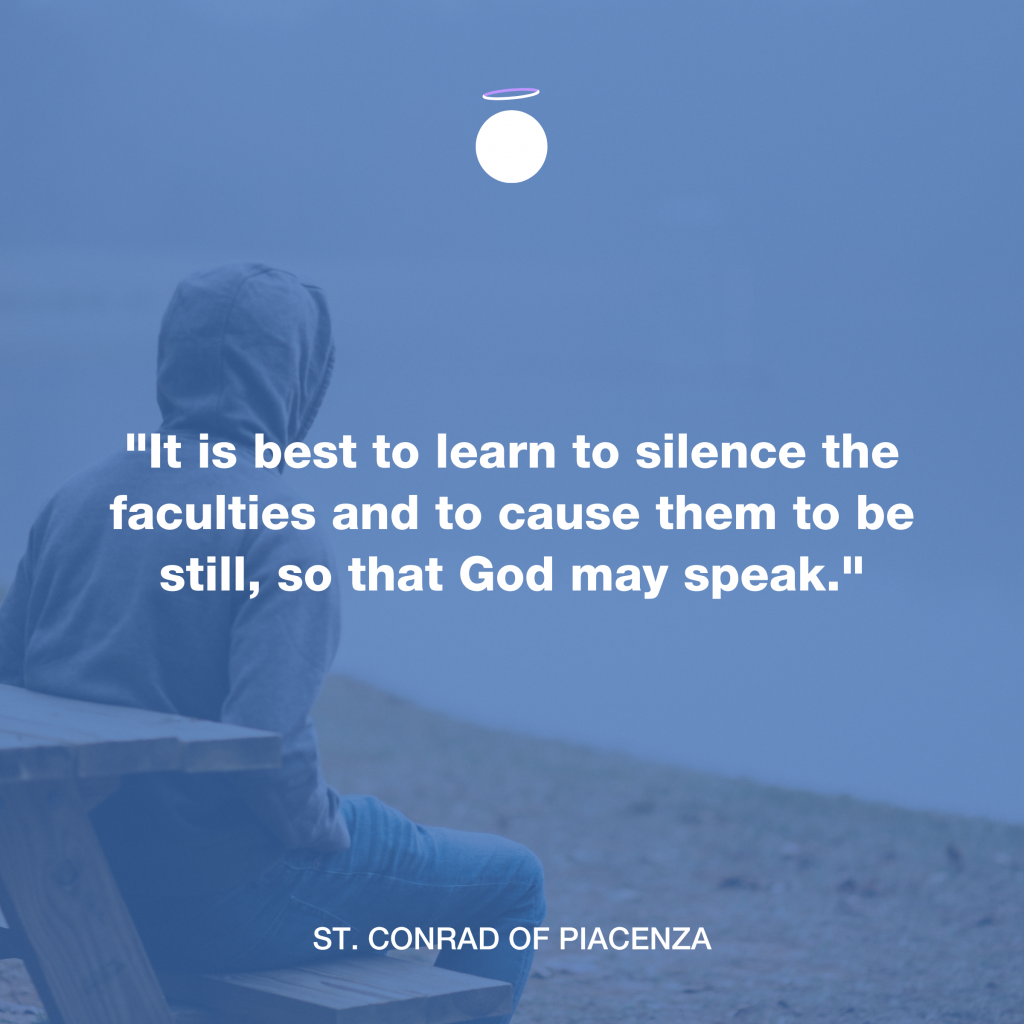Hallow Daily Quote - Pray in silence