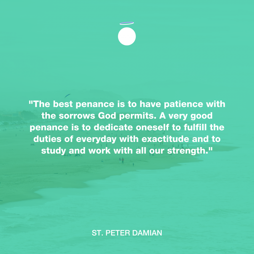 Hallow Daily Quote - patience as penance