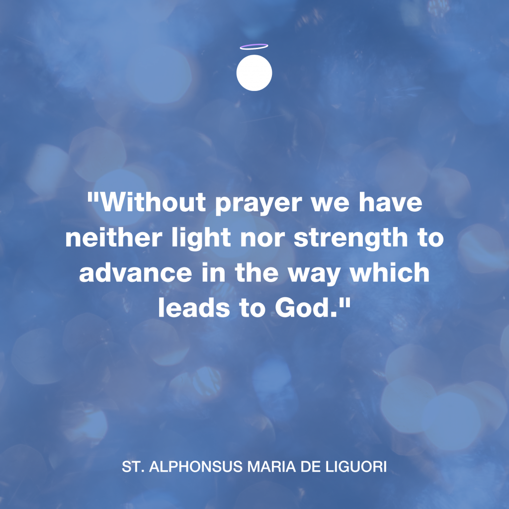 hallow daily quote - strength in prayer