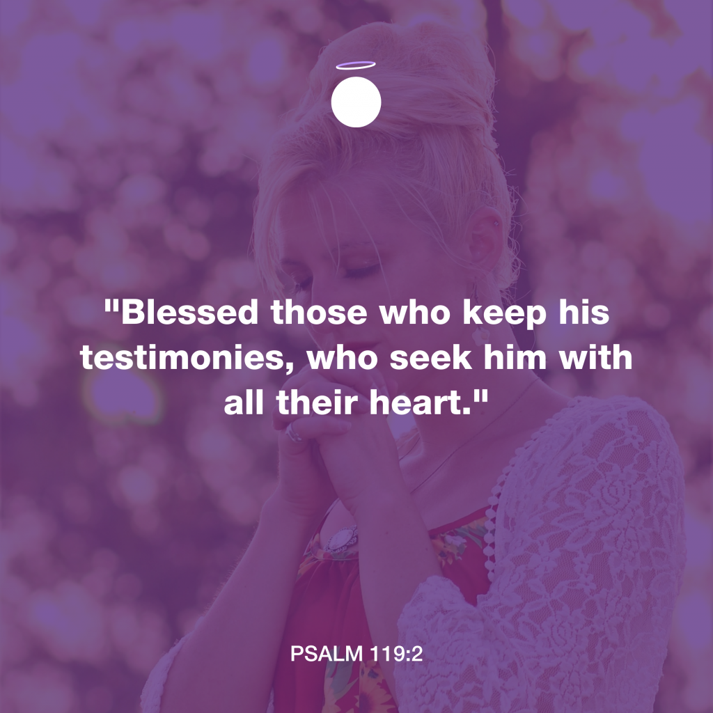 Hallow Bible Verse - Psalm 119:2
